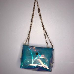 Holographic Cross Body Pouch